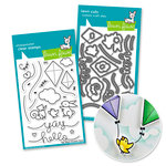 Lawn Fawn - Die and Acrylic Stamp Set - Yay, Kites Bundle