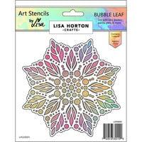 Lisa Horton Crafts - Art Stencils - Bubble Leaf
