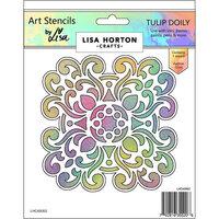 Lisa Horton Crafts - Art Stencils - Tulip Doily
