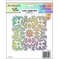 Lisa Horton Crafts - Art Stencils - Floral Tile