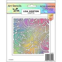 Lisa Horton Crafts - Art Stencils - Rose Garden