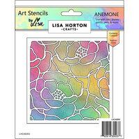 Lisa Horton Crafts - Art Stencils - Anemone