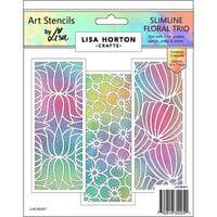 Lisa Horton Crafts - Slimline - Art Stencils - Floral Trio