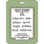 Lisa Horton Crafts - Die and Clear Photopolymer Stamp Set - Essential Words