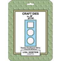 Lisa Horton Crafts - Dies - Slimline - Nested Scalloped Slims