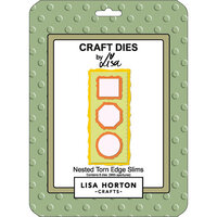 Lisa Horton Crafts - Dies - Slimline - Nested Torn Edge Slims