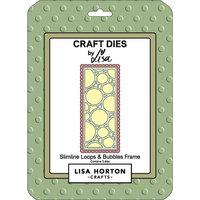 Lisa Horton Crafts - Dies - Slimline - Loops and Bubbles Frame