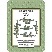 Lisa Horton Crafts - Dies - Squiggled Script Sentiments