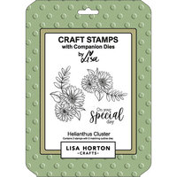 Lisa Horton Crafts - Die and Clear Photopolymer Stamp Set - Helianthus Cluster