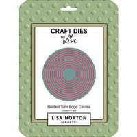 Lisa Horton Crafts - Dies - Nested Torn Edge Circles