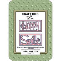 Lisa Horton Crafts - Dies - Framed Sentiments - Happy and Smile