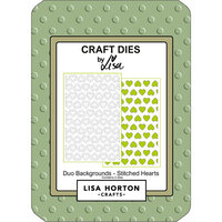 Lisa Horton Crafts - Dies - Duo Backgrounds - Stitched Hearts