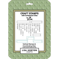 Lisa Horton Crafts - Die and Clear Photopolymer Stamp Set - Vertical Sentiments
