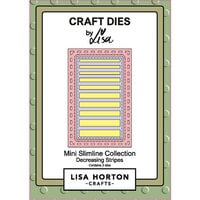 Lisa Horton Crafts - Mini Slimline Collection - Dies - Decreasing Stripes