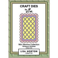 Lisa Horton Crafts - Mini Slimline Collection - Dies - Harlequin Bubbles