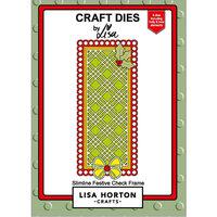 Lisa Horton Crafts - Dies - Slimline - Festive Checked Frame