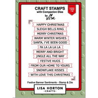 Lisa Horton Crafts - Die and Clear Photopolymer Stamp Set - Festive Banner Sentiments