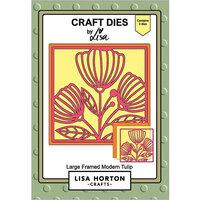 Lisa Horton Crafts - Dies - Large Framed Modern Tulip