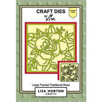 Lisa Horton Crafts - Dies - Large Framed Traditional Rose