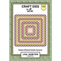 Lisa Horton Crafts - Dies - Nested Stitched Bubble Squares