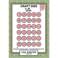 Lisa Horton Crafts - Die and Clear Photopolymer Stamp Set - Scalloped Alpha Dots - Numbers and Sentiments