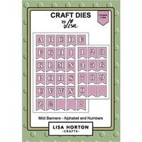 Lisa Horton Crafts - Dies - Midi Banners Numbers and Alphabet