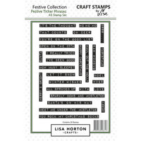 Lisa Horton Crafts - Christmas - Clear Photopolymer Stamps - Festive Ticker Phrases