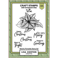 Lisa Horton Crafts - Christmas - Clear Photopolymer Stamps - Sketchy Poinsettia