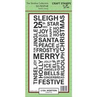 Lisa Horton Crafts - Christmas - Slimline - Clear Photopolymer Stamps - So Festive