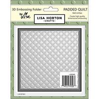 Lisa Horton Crafts - 3D Embossing Folder - Padded Quilt