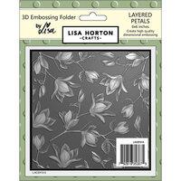 Lisa Horton Crafts - 3D Embossing Folder - Layered Petals