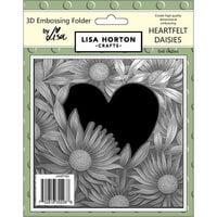 Lisa Horton Crafts - 3D Embossing Folder - Heartfelt Daisies