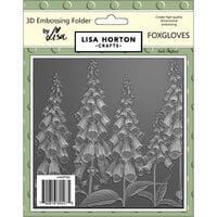Lisa Horton Crafts - 3D Embossing Folder - Foxgloves