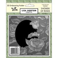 Lisa Horton Crafts - 3D Embossing Folder - Shower of Roses