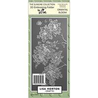 Lisa Horton Crafts - Slimline - 3D Embossing Folder - Oriental Bloom