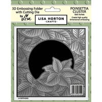 Lisa Horton Crafts - Christmas - 3D Embossing Folder with Coordinating Dies - Poinsettia Cluster