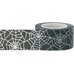 Little B - Decorative Paper Tape - Halloween - Large Spiders Webs - 25mm