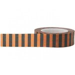 Little B - Decorative Paper Tape - Halloween - Halloween Stripes - 15mm