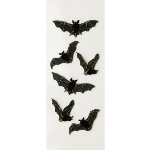 Little B - 3 Dimensional Stickers - Halloween - Black Bats - Mini