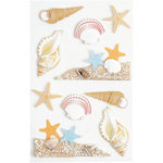 Little B - 3 Dimensional Stickers - Sea Shells - Medium