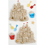 Little B - 3 Dimensional Stickers - Sand Castles - Medium