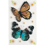 Little B - 3 Dimensional Stickers - Butterflies - Medium