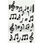 Little B - 3 Dimensional Stickers - Music Notes - Medium