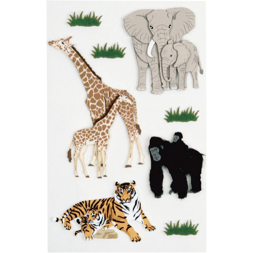 Little B - 3 Dimensional Stickers - Zoo Animals - Medium