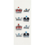 Little B - 3 Dimensional Stickers - Crowns - Mini