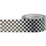 Little B - Decorative Paper Tape - Black and White Check - 25mm