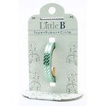 Little B - Decorative Paper Tape - Silver Diagonal Foil Stripes - 3mm