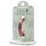Little B - Decorative Paper Tape - Pink Foil Polka Dots - 3mm