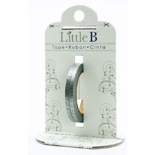Little B - Decorative Paper Tape - Silver Foil Grosgrain - 3mm