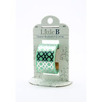 Little B - Decorative Paper Tape - Silver Foil Honeycomb - 25mm